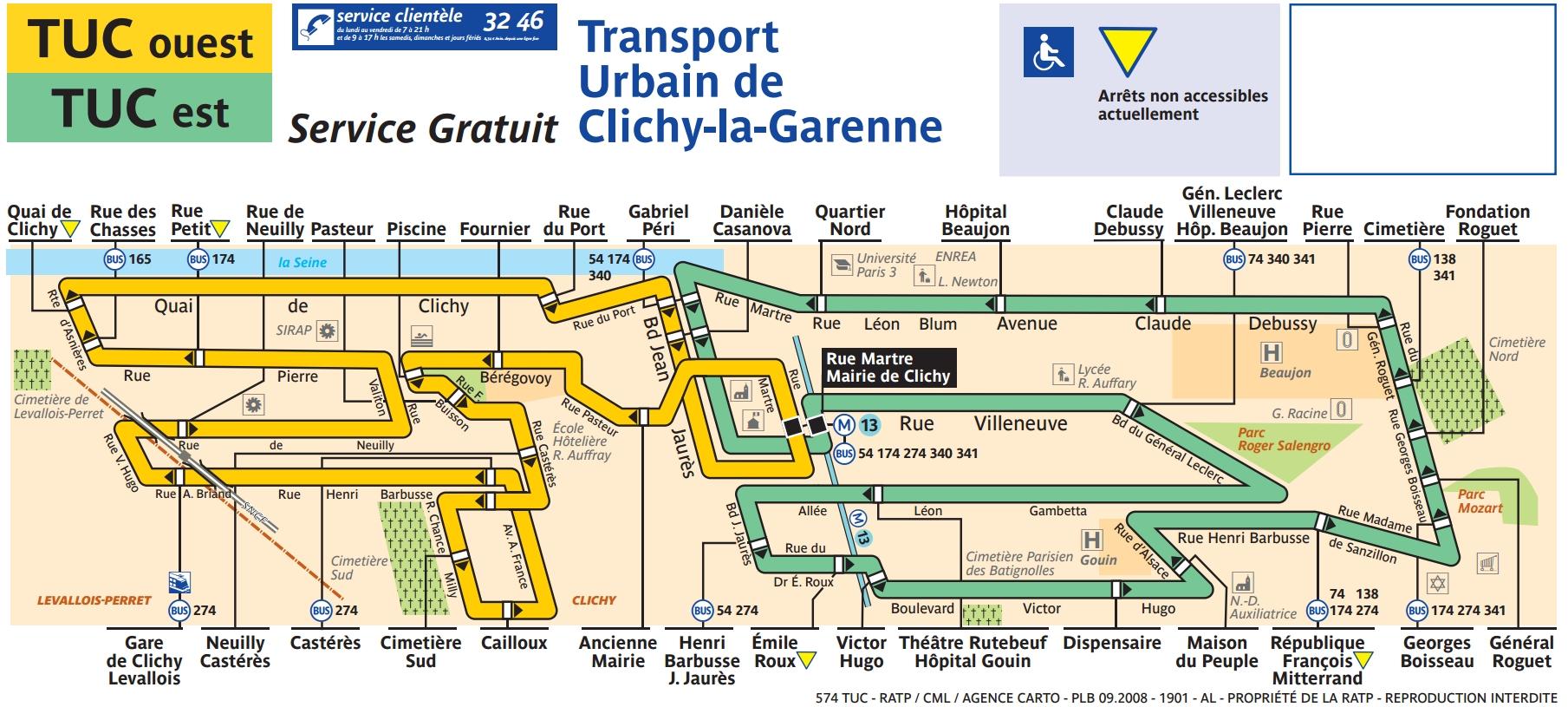 Plan bus Ligne 574