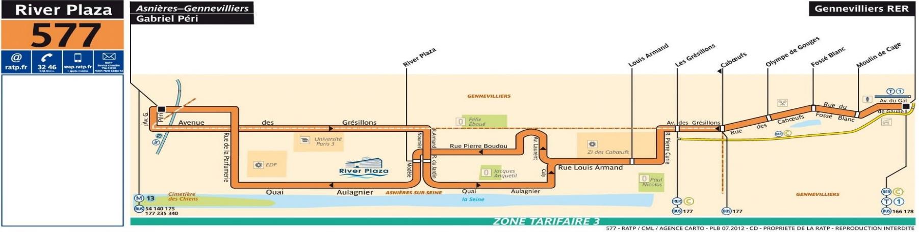 Plan bus Ligne 577