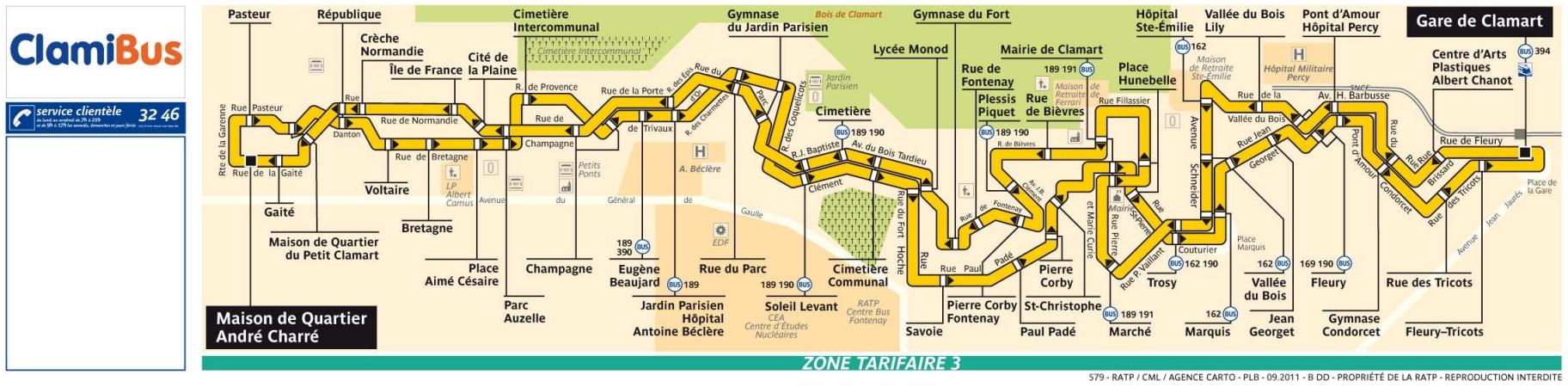 Bus 579 clamibus horaires et plan ligne 579 paris for Plan de jardin en ligne