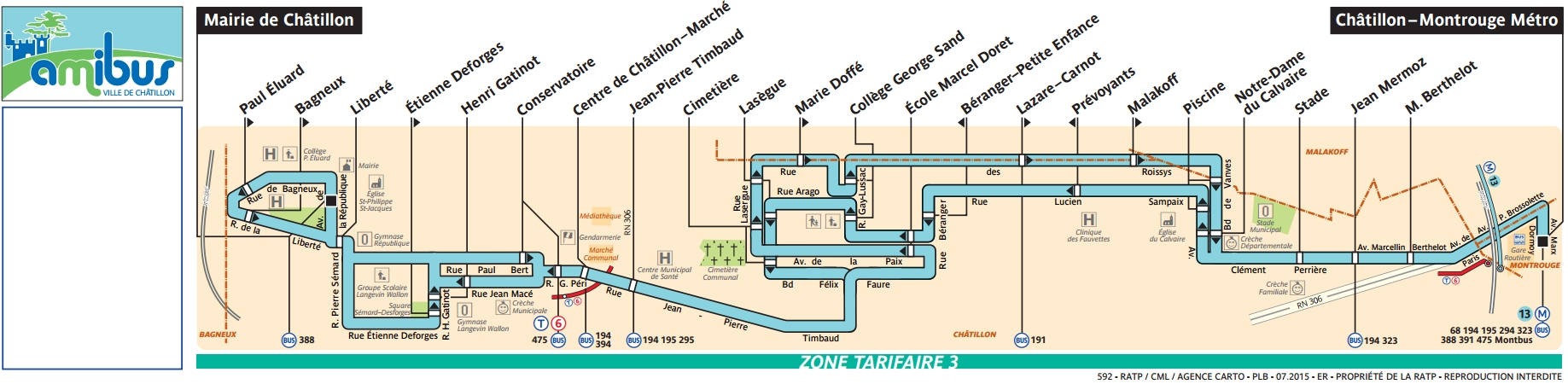 Bus 592 amibus horaires et plan ligne 592 paris for 592 plan