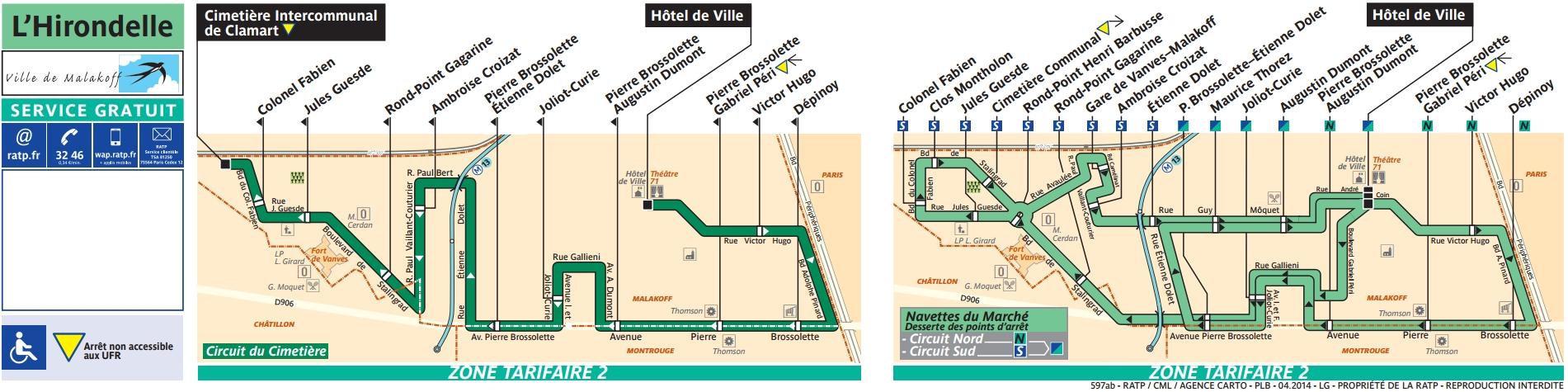 Plan bus Ligne 597