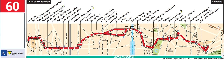 Plan bus Ligne 60