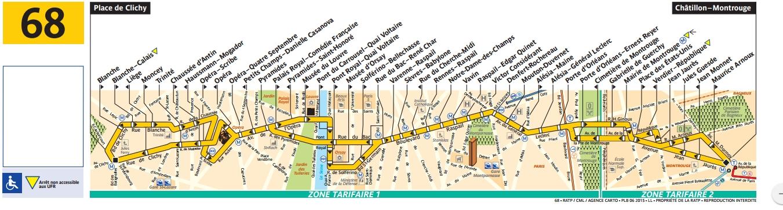 Plan bus Ligne 68