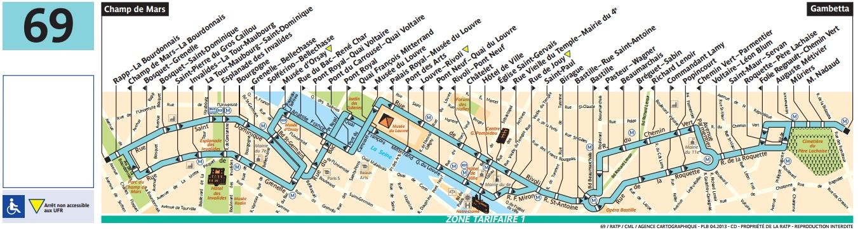 Plan bus Ligne 69