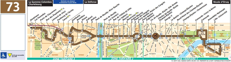 Plan bus Ligne 73