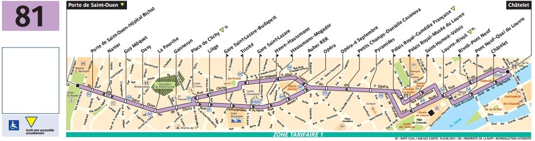 Plan bus Ligne 81