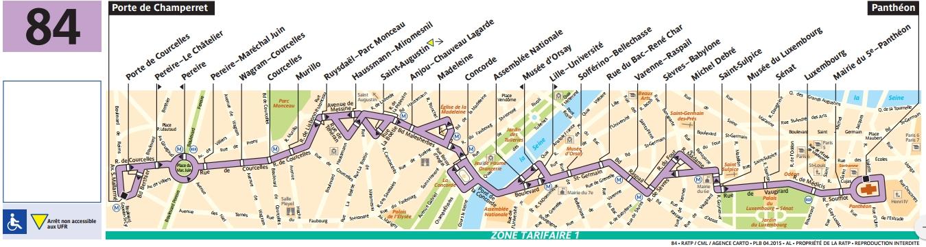 Plan bus Ligne 84