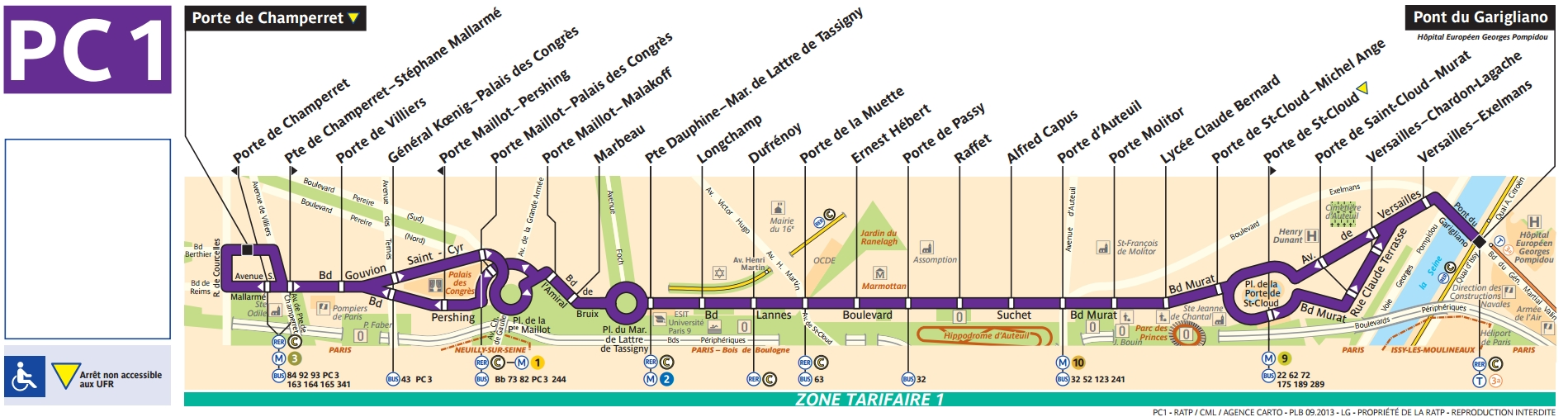 Bus pc1 horaires et plan ligne pc1 paris for Salon porte de champerret horaires