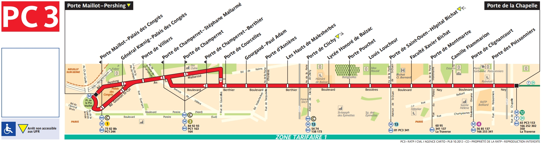 Plan bus Ligne PC3