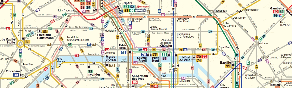 Plan bus Paris